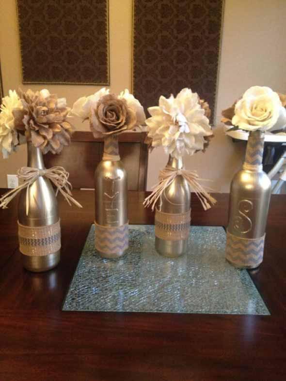 Como organizar flores com vasos artesanais 020