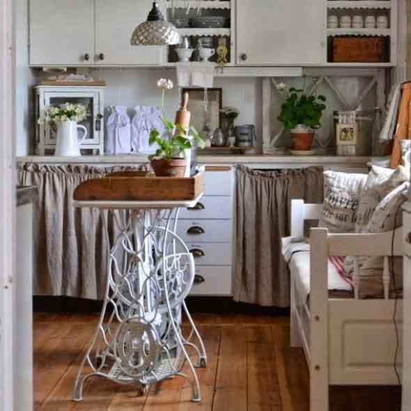 Como usar pé de máquina antiga na decoração 022