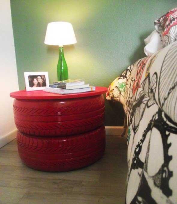 Ideias de decoração com pneus 001