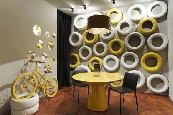 Ideias de decoração com pneus 006