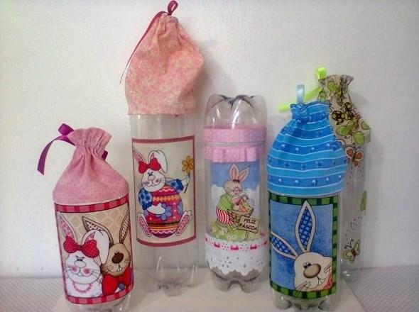 Dicas de decoração com garrafas PET 013