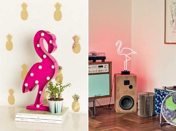 Flamingos na decoração 001