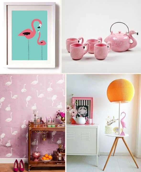 Flamingos na decoração 002