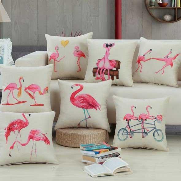 Flamingos na decoração 004