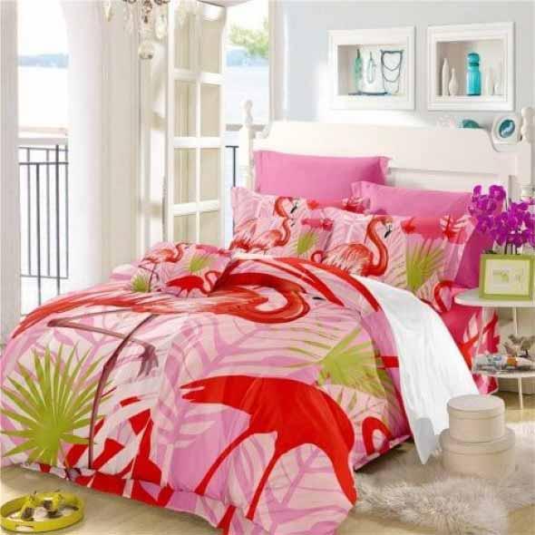 Flamingos na decoração 005