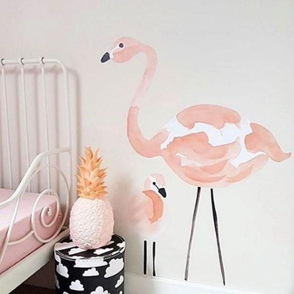 Flamingos na decoração 016