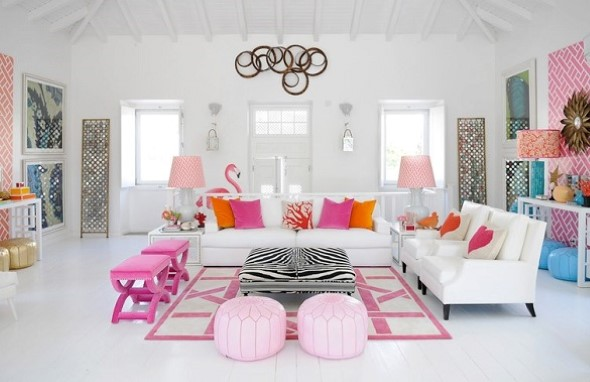 Flamingos na decoração 017