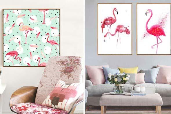 Flamingos na decoração 020