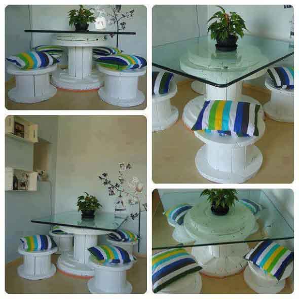 Modelos charmosos de mesas de carretéis 013