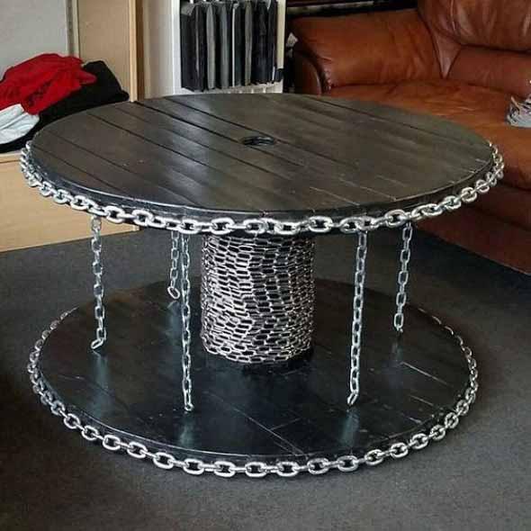 Modelos charmosos de mesas de carretéis 015