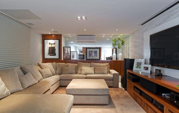 Sofá grande para sala de estar 002