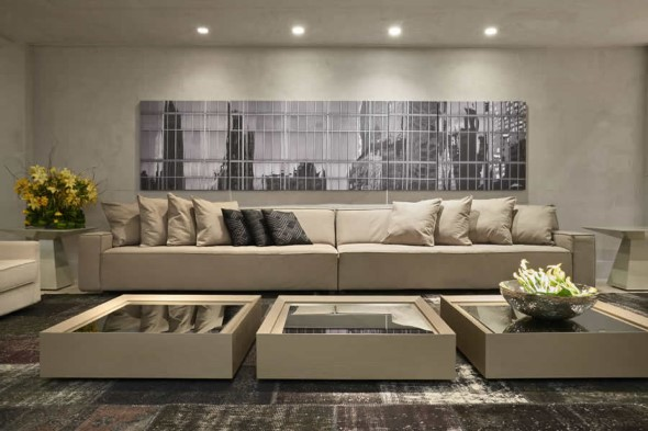 Sofá grande para sala de estar 013