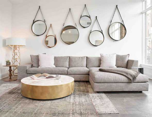 Sofá grande para sala de estar 015
