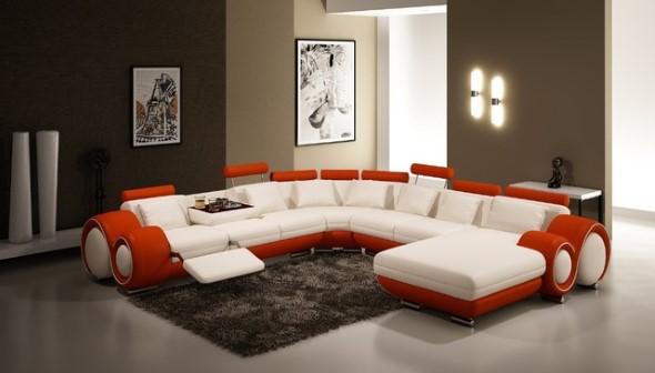 Sofá grande para sala de estar 017