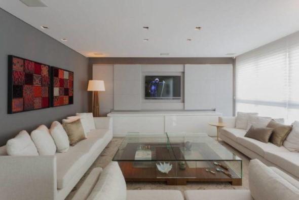 Sofá grande para sala de estar 018