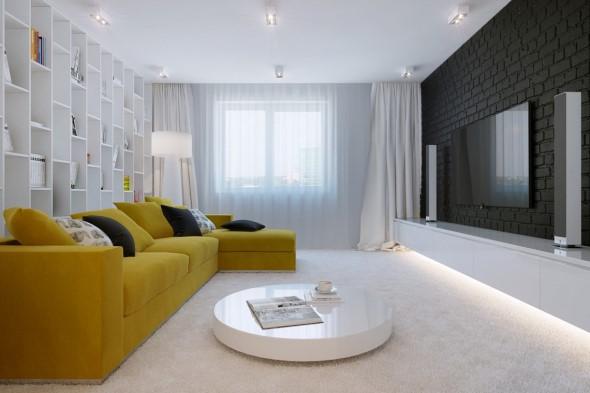 Sofá grande para sala de estar 023
