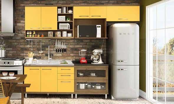 Tijolo aparente na decoração da cozinha 007
