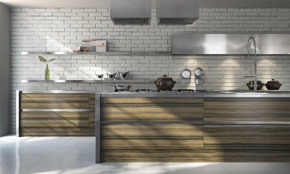Tijolo aparente na decoração da cozinha 018