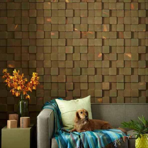 Como revestir paredes com blocos de madeira 001
