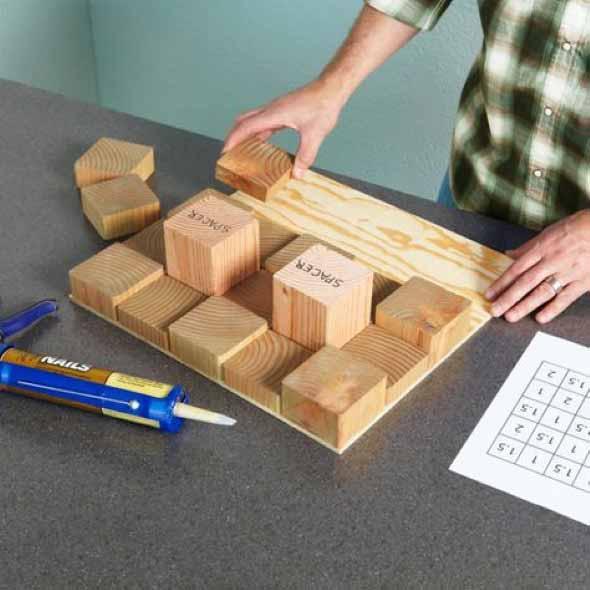 Como revestir paredes com blocos de madeira 006