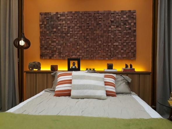 Como revestir paredes com blocos de madeira 011