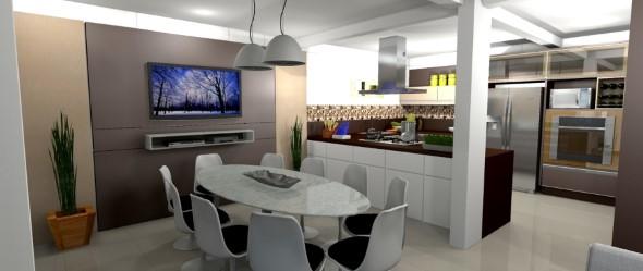 Decoração com TVs espalhadas pela casa 008