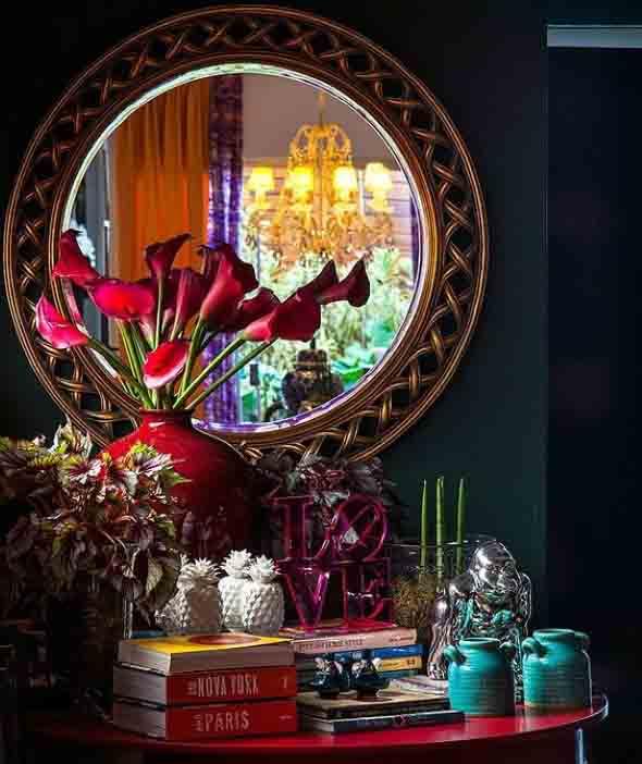 Decorar a casa com espelhos redondos 001