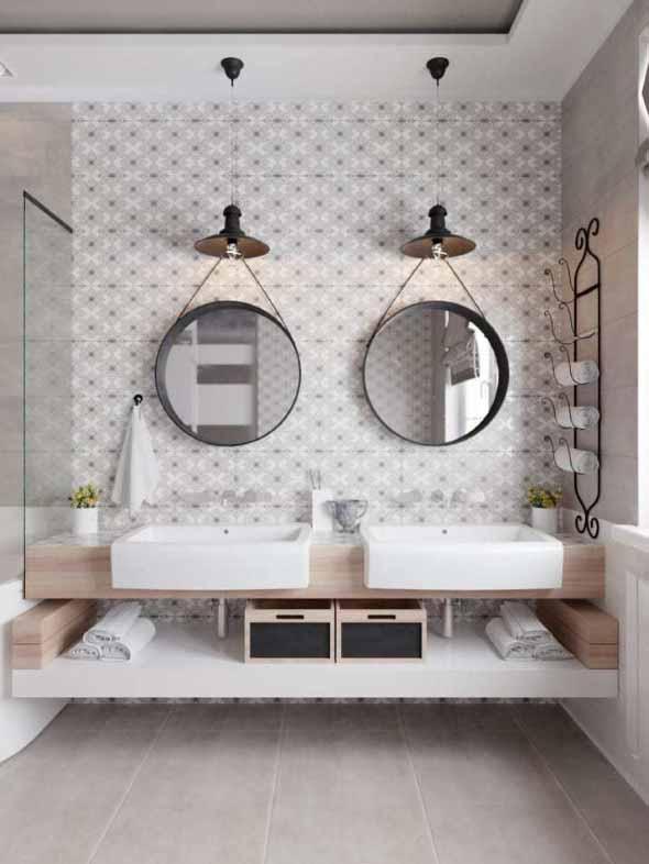 Decorar a casa com espelhos redondos 022