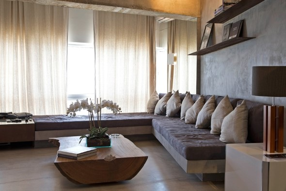Móveis feitos de concreto em casa 009