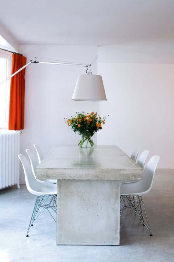 Móveis feitos de concreto em casa 010