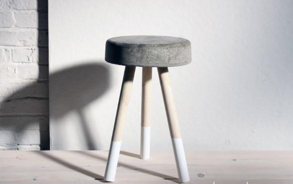 Móveis feitos de concreto em casa 012