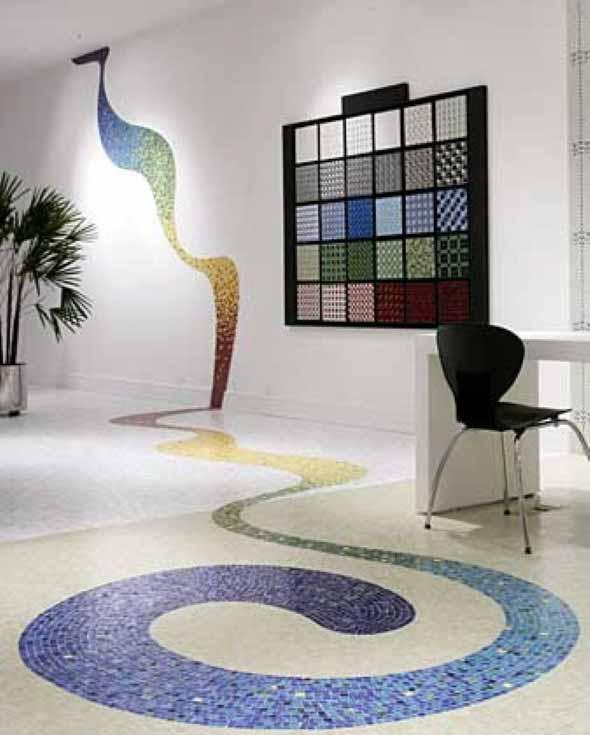 Mosaico na decoração de casa 002