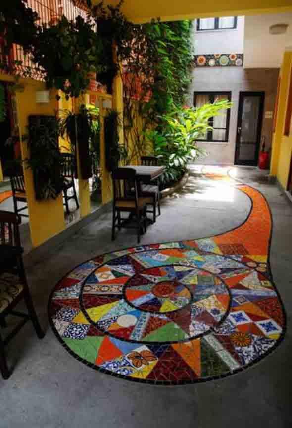 Mosaico na decoração de casa 003
