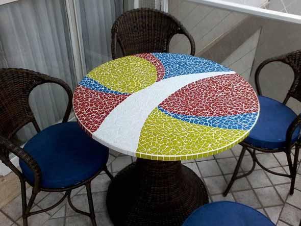 Mosaico na decoração de casa 005