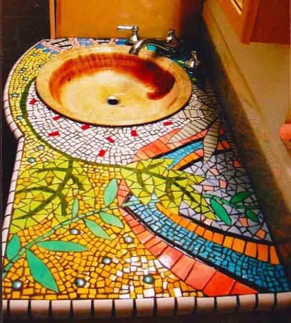 Mosaico na decoração de casa 007