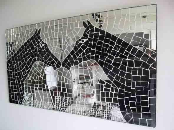 Mosaico na decoração de casa 009