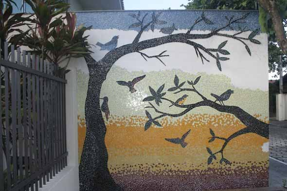 Mosaico na decoração de casa 020