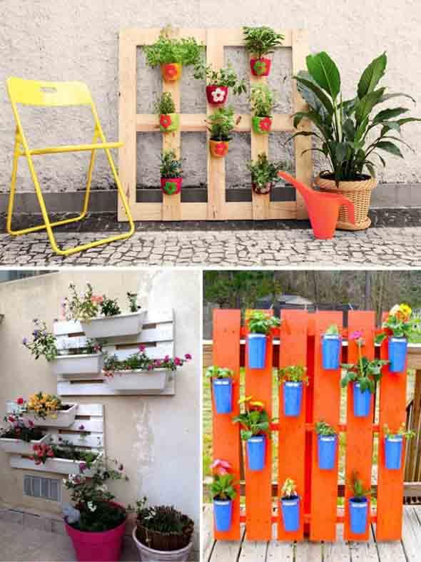 Paletes na varanda e no jardim 008