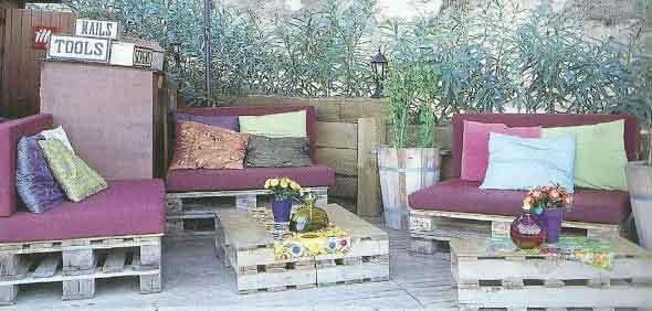 Paletes na varanda e no jardim 014