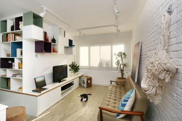 Rede para decorar a sala de estar 004