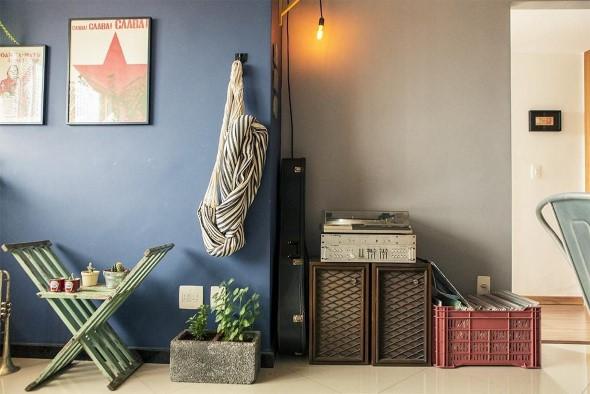 Rede para decorar a sala de estar 005