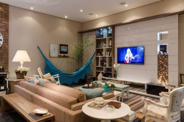 Rede para decorar a sala de estar 006