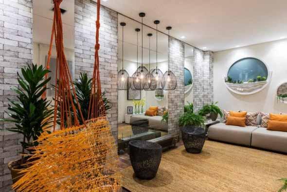 Rede para decorar a sala de estar 007