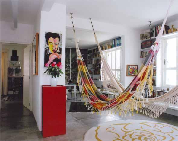 Rede para decorar a sala de estar 009