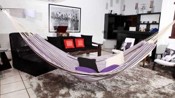 Rede para decorar a sala de estar 012