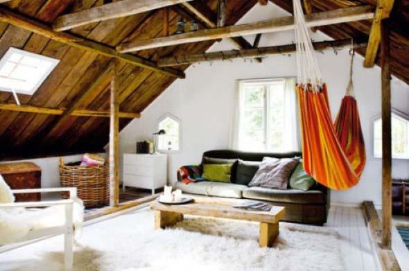 Rede para decorar a sala de estar 013