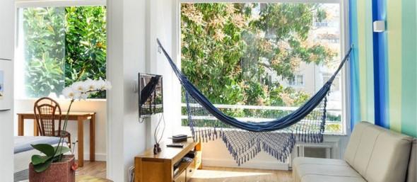 Rede para decorar a sala de estar 015
