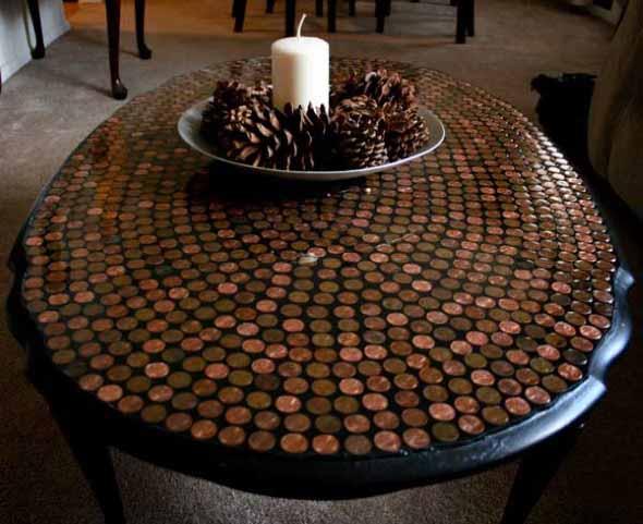 Reutilizar moedas na decoração 001