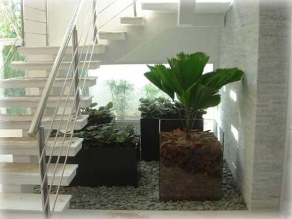 Vasos de plantas quadrados na decoração 003