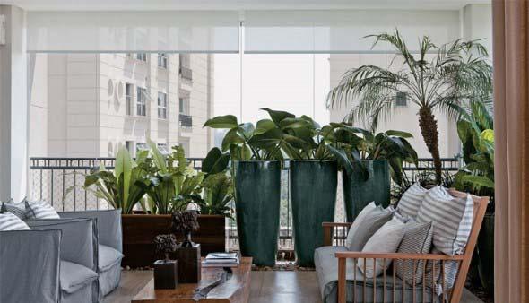 Vasos de plantas quadrados na decoração 017